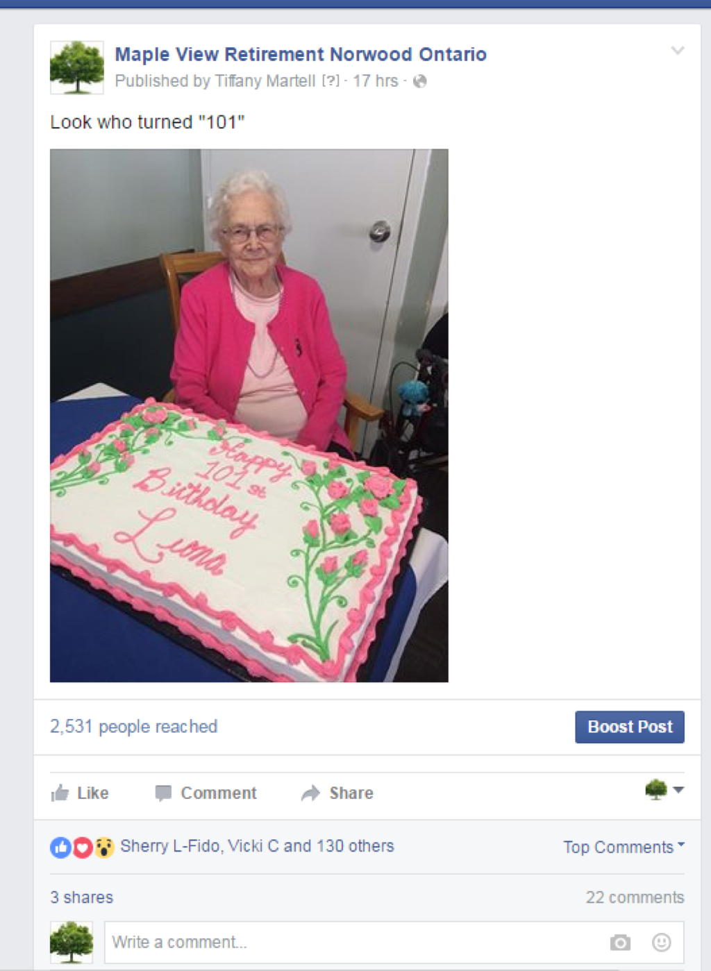 """Look who turned """"101"""""""