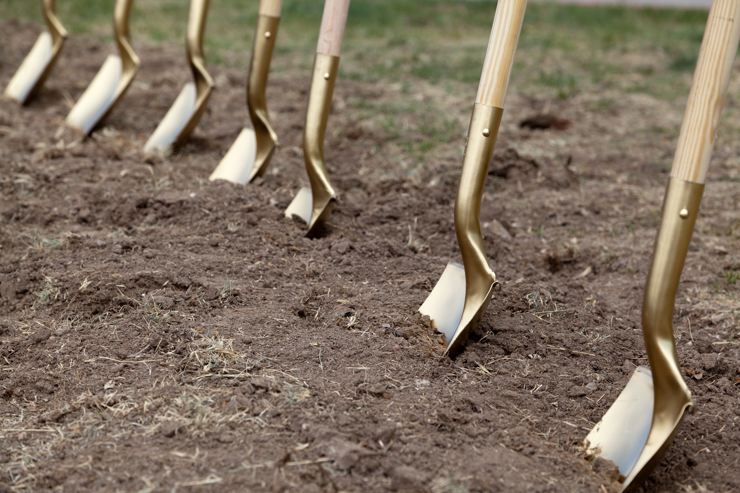 Shovel in the ground ceremony