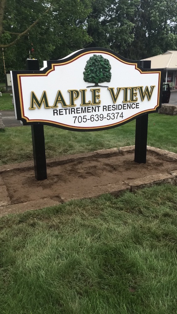 New Maple View Sign